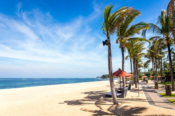 Paradise Geger Beach On Bali Island In Indonesia